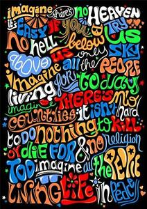 Imagine Lyrics John Lennon A3 Poster M745
