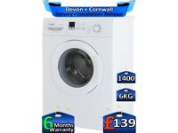 LCD Display, Bosch Washing Machine, 6kg Drum, 1`400 Spin, Factory Refurbished inc 6 Months Warranty