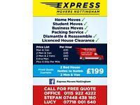Express Movers Nottingham. 5 STAR REVIEWS ON FACEBOOK