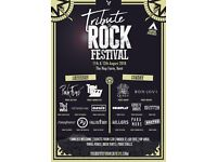 Rock Festival Tribute Family ticket 12th August 2018 two adults and two children