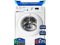 Indesit Washing Machine, Rapid Wash, 9kg Drum, 1600 Spin, Factory Refurbished inc 6 Months Warranty