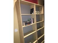 Tall, wide wooden bookshelf X2