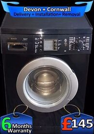 Bosch LCD, Big 7Kg Drum, Top Spec, Gloss Black, A+ Rated, Fully Refurbished inc 6 Months Warranty