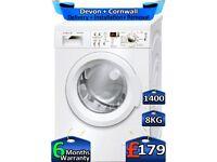 1400 Spin, 8kg Drum, Bosch Washing Machine, Inverter, Factory Refurbished inc 6 Months Warranty