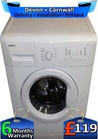 Big 7KG Drum, Fast Wash, Time Delay, Beko Washing Machine, Factory Refurbished inc 6 Months Warranty