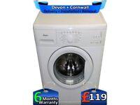 1400, 6Kg Load, Whirlpool Washing Machine, Rapid Wash, Factory Refurbished inc 6 Months Warranty