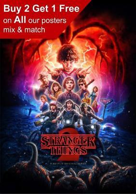 Stranger Things Season 2 Poster A5 A4 A3 A2 A1
