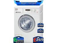 Miele Washing Machine, 1400 Spin, 7kg Drum, Rapid Wash, Factory Refurbished inc 6 Months Warranty