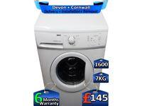 7kg Drum, 1600 Spin, Zanussi Washing Machine, Quick Wash, Factory Refurbished inc 6 Months Warranty
