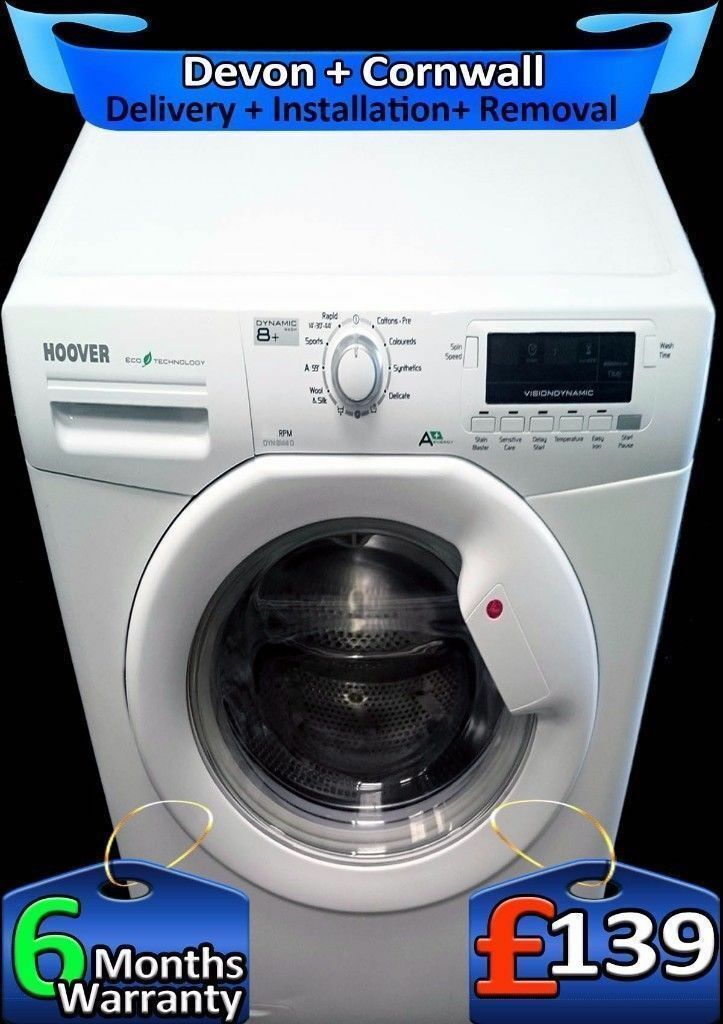 Full LCD, Big 8Kg Load, Rapid Wash, Hoover Washing Machine, Fully Refurbished inc 6 Months Warranty