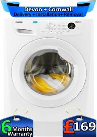 Zanussi Washing Machine, Huge 9Kg, Top Tech, LCD, A+++, Factory Refurbished inc 6 Months Warranty