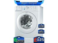 Slimline, Indesit Washing Machine, 6kg Drum, 1200 Spin, Factory Refurbished inc 6 Months Warranty