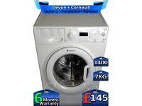 1400 Spin, LCD, Hotpoint Washing Machine, 7kg Drum, Factory Refurbished inc 6 Months Warranty