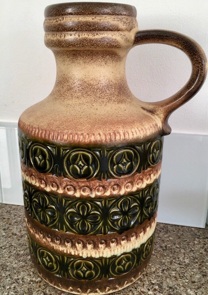 Vintage Large West German Pottery Vase Jug In Didsbury