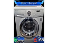 LG Washing Machine, Direct Drive, Big 8Kg Drum , A+ Rated, Factory Refurbished inc 6 Months Warranty