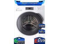 Inverter, 1400 Spin, Panasonic Washing Machine, 8kg Drum, Factory Refurbished inc 6 Months Warranty