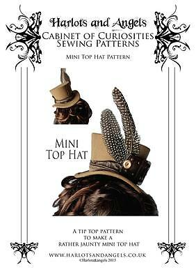 - Mini Top Hat Sewing Pattern Steampunk Victorian Gothic. Perfect for costuming