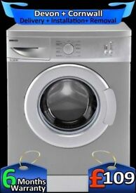 Beko Washing Machine, 5Kg, Fast 1100, Silver, Slimline, Factory Refurbished inc 6 Months Warranty