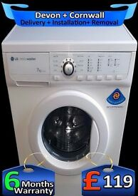 Big 7Kg Drum, LG Washing Machine, Quick Wash, Half Load, Fully Refurbished inc 6 Months Warranty