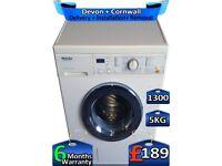 1300 Spin, 5kg Drum, Miele Washing Machine, Fast Wash, Factory Refurbished inc 6 Months Warranty