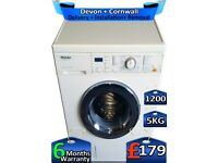 Miele Washing Machine, Fast Wash, 1200 Spin, 5kg Drum, Factory Refurbished inc 6 Months Warranty