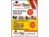 English, Maths & Sciences Tuition for KS 1,2,3