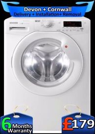 LCD, Fast Wash, A+, Top Washer Dryer, Large 8+5Kg Hoover, Fully Refurbished inc 6 Months Warranty