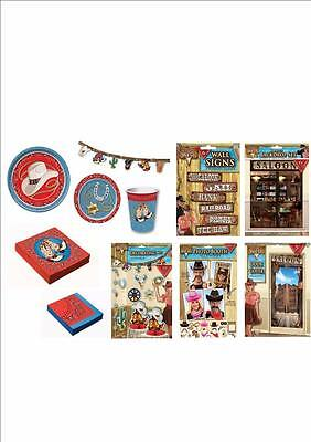WAY OUT WEST COWBOY RODEO BARN DANCE WESTERN THEMED PARTY DECORATIONS TABLEWARE - Barn Dance Decor