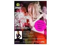 Zumba classes every Wednesday 20:00 at Dickens Heath Village Hall