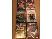 Selection of six children DVDs