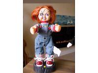 Talking head moving chucky doll