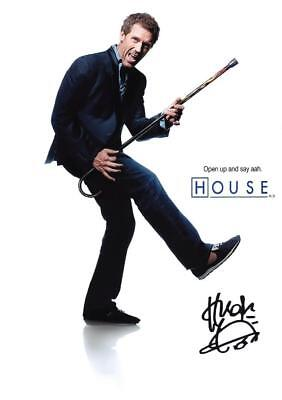 "HOUSE M.D. PP SIGNED PHOTO POSTER 12"" X 8"" A4 HUGH LAURIE N2"