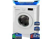 1200 Spin, Beko Washing Machine, Fast Wash, 6kg Drum, Factory Refurbished inc 6 Months Warranty