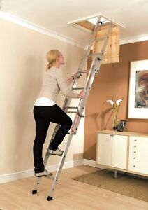 Youngman Easiway Sliding Loft Access Ladder 3 Section Aluminium 3m 313340