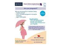 Pregnant or trying for a baby? - £50 nutrition study