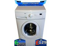 Zanussi Washing Machine, Big 7Kg, 1600 Mega Spin, LCD, A+, Factory Refurbished inc 6 Months Warranty