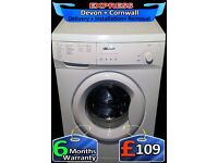 Bush 6kg Washing Machine, Fast 1200, Quick Wash, Many Progs, Fully Refurbished inc 6 Months Warranty