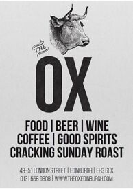 Chef De Partie Required, The Ox London street