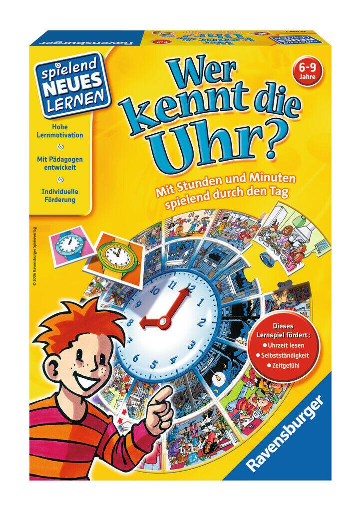 Ravensburger 25056 Wer kennt die Uhr?,Lernspiel