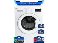 LCD, Amica Washing Machine, 1200 Spin, 7kg Drum, Factory Refurbished inc 6 Months Warranty