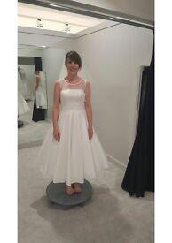 Ivory Tea Length Anna Sorrano size 10 wedding dress