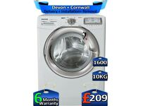 Hoover Washing Machine, MEGA 10KG, Inverter, 1600 Spin, Factory Refurbished inc 6 Months Warranty