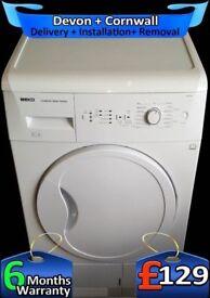 Beko Condenser Dryer, Big 8Kg Drum, Twin Heat, Reverse, Factory Refurbished inc 6 Months Warranty