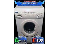 Quick Wash, 6Kg Drum Washing Machine, 1100 spin, Fully Reconditioned inc 6 Months Warranty