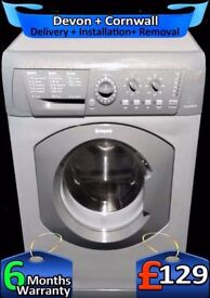Hotpoint Big 7kg Washing Machine, Graphite Grey, Fast 1300, Fully Refurbished inc 6 Months Warranty