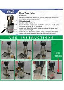 Open Box 10T Hand Type Hydraulic Fruit Sugar Cane Juicer 134122