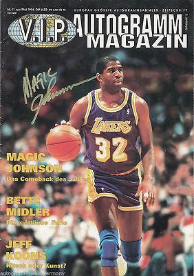 Magic Johnson TOP AK Orig. Sign. Basketball  + G 6123