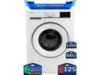 6kg Drum, Sharp Washing Machine, 1200 Spin, Rapid Wash, Factory Refurbished inc 6 Months Warranty
