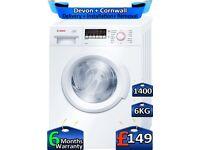 1400 Spin, 6kg Drum, LCD, Bosch Washing Machine, Factory Refurbished inc 6 Months Warranty