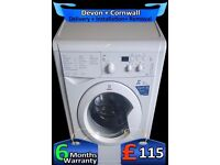 Fast 1400, 6KG Drum, A+, Indesit LCD Washing Machine, Quick, Fully Refurbished inc 6 Months Warranty